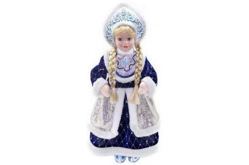 Кукла Новогодняя сказка Снегурочка 43 см 1 шт синий пластик, текстиль. Аксессуары