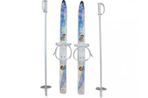 Лыжи детские Лыжики пыжики с палками 75 см 66521 Спортивный инвентарь