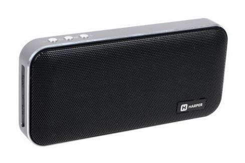 Портативная колонка HARPER PSPB-200 Black Беспроводная акустика / 2 x 5 Вт / 180 - 18000 Гц / Bluetooth 4.2 / microSD Акустические системы