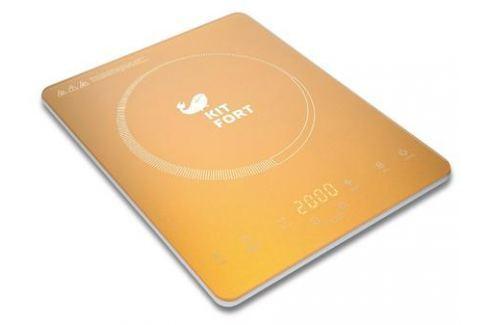 Индукционная электроплитка KITFORT КТ-110-1 золотистый Плиты
