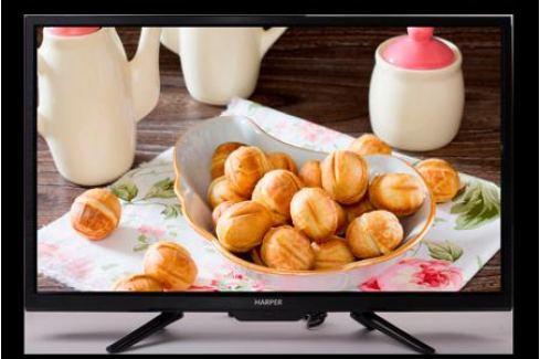 Телевизор Harper 28R660T LED 28'' Black, 16:9, 1366x768, 60000:1, 210 кд/м2, USB, AV, 3xHDMI, DVB-T, T2, C Телевизоры