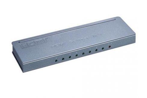 Разветвитель Orient HSP0108H-mini, HDMI 4K Splitter 1-8, HDMI 1.4/3D, UHDTV 4K(3840x2160)/HDTV1080p/1080i/720p, HDCP1.2, внешний БП 5В/1.5A, метал.кор Переключатели