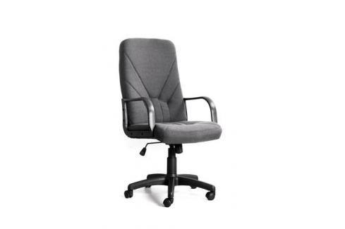 Кресло Recardo Leader Серый ткань, 120кг, высота спинки 650мм, подлокоткии пластик Стулья, кресла