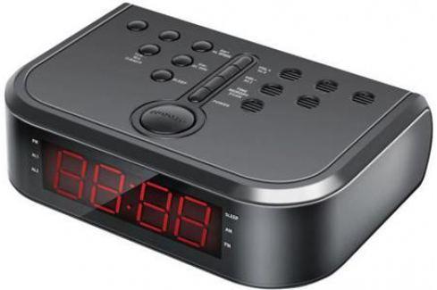 Радиобудильник Hyundai H-RCL120 чёрный Часы с радиоприемником