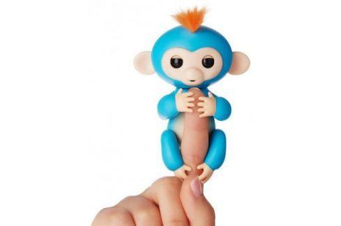 Интерактивная мягкая игрушка обезьянка БОРИС (синяя), 12см 3703A Игрушки