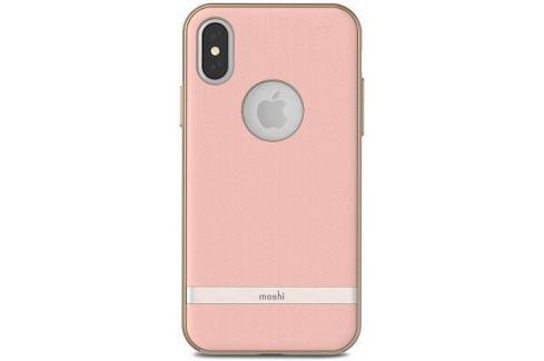Чехол-накладка Moshi Vesta для iPhone X. Материал пластик/полиуретан. Цвет розовый. Сумки