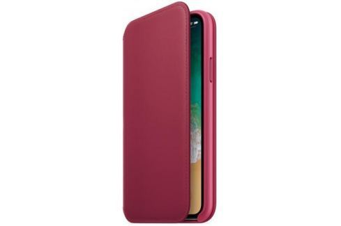 Чехол-книжка Apple Leather Folio для iPhone X лесная ягода MQRX2ZM/A Сумки