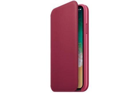 Чехол-книжка Apple Leather Folio для iPhone X лесная ягода MQRX2ZM/A Сумки