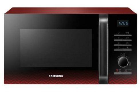 Микроволновая печь Samsung MG23H3115PR/BW 800 Вт чёрный красный Микроволновые печи