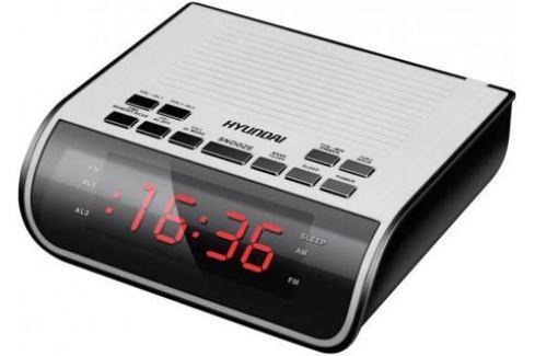 Радиобудильник Hyundai H-RCL100 белый Часы с радиоприемником