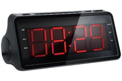 Радиобудильник Hyundai H-RCL140 чёрный Часы с радиоприемником