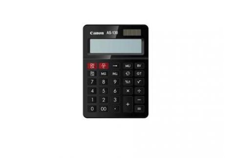 Калькулятор Canon AS-130 12 разрядов черный Калькуляторы