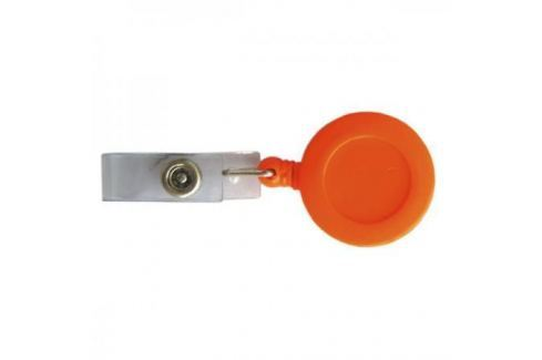 Брелок-ретрактор с вытяжной нитью, пластик,оранжевый Аксессуары