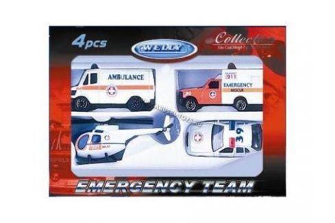 Welly Игровой набор Служба спасения - скорая помощь 4 шт. белый Игрушки