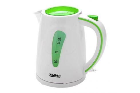 Чайник Zimber ZM-10838 2200 Вт 1.7 л пластик белый зелёный Чайники(электро)