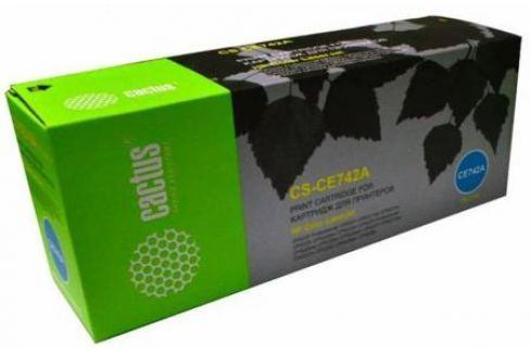 Тонер Картридж Cactus CS-CE742AR желтый для HP CLJ Pro CP5220/CP5221 (7300стр.) Картриджи и расходные материалы