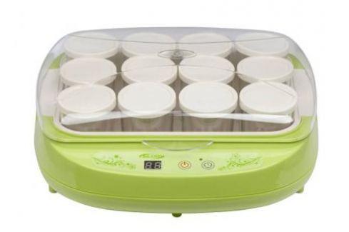 Йогуртница BRAND 4002 (цифр.управл. 12*200мл) зеленая Йогуртницы, Мороженицы