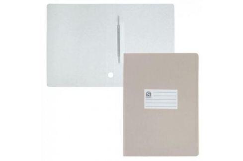 Офис-папка скоросшиватель, лакированный микрогофрокартон, 470 г/кв.м,233х30х315 мм, серый Аксессуары