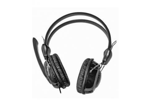 Гарнитура KREOLZ HS401, регулятор громкости на левом наушнике, оголовье, внешний поворотный микрофон, кожаные амбушюры, гибкая оплетка провода, Микрофоны и наушники