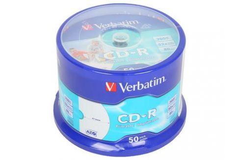 CD-R Verbatim 700Mb 52x 50шт Cake Box Full Ink Print Диски, дискеты