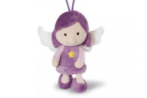 Мягкая игрушка ангелочек Nici Ангел-хранитель, с петелькой 15 см фиолетовый плюш 37330 Игрушки
