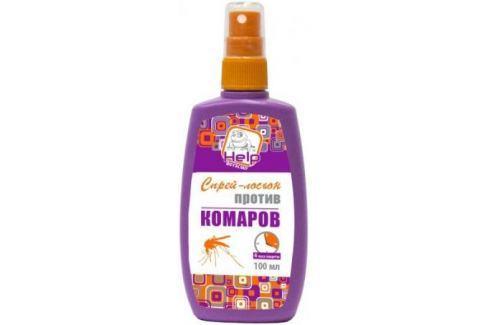 HELP Спрей-лосьон от комаров до 4 часов защиты репеллентный, 100 мл /24 Средства от комаров и насекомых