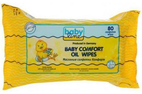 Салфетки влажные Babyline Комфорт 80 шт не содержит спирта Средства гигиены