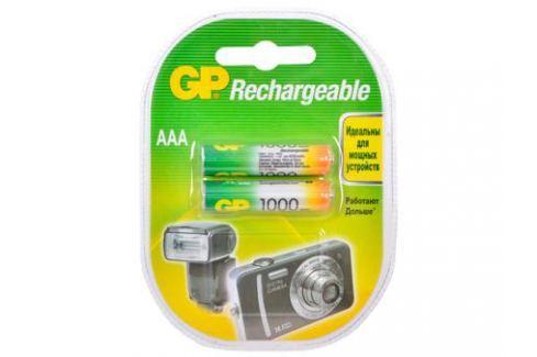 Аккумуляторы GP 2шт, AAA, 1000mAh, NiMH (100AAAHC-2CR2) Зарядные устройства и аккумуляторы