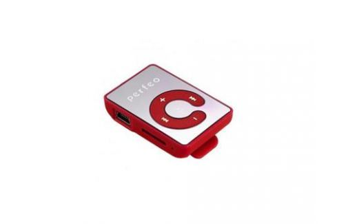 Цифровой аудио плеер Perfeo Music Clip Color, красный (VI-M003 Red) mp3 - плееры