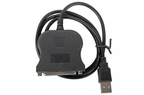 Кабель-адаптер Orient ULB-225, USB AM to LPT DB25F (порт), кабель 0.85м, крепление гайки Кабели и переходники