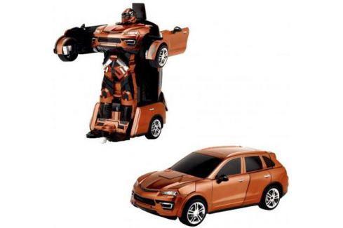 1toy Робот на р/у 2,4GHz, трансформирующийся в машину, оранжевый Конструкторы, мозаики, пазлы