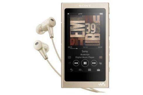 Плеер Sony NW-A45HN, Золотисто-бежевый, наушники в комплекте, 16 Гб, NFC/Bluetooth mp3 - плееры