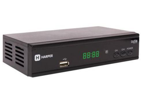 Цифровой телевизионный DVB-T2 приемник HARPER HDT2-2015 с функцией FULL HD медиаплеера Цифровое телевидение DVB-T