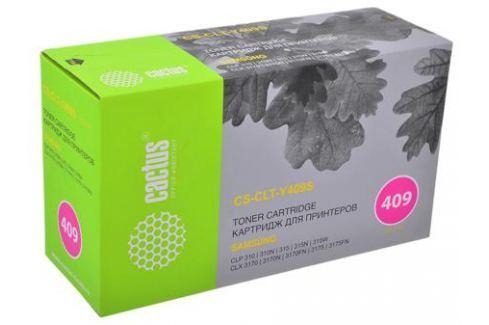 Тонер-картридж CACTUS CS-CLT-Y409S для принтеров Samsung CLP-310/315; CLX-3170/3175/3175FN, желтый, 1000 стр. Картриджи и расходные материалы