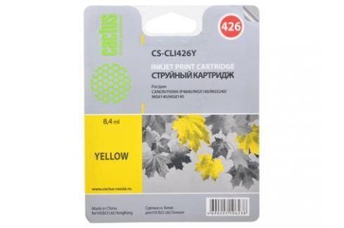 Картридж CACTUS CS-CLI426Y для Canon PIXMA MG5140/5240/6140/8140; MX884, желтый,8.4 мл Картриджи и расходные материалы