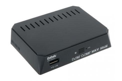 Цифровой телевизионный DVB-T2 ресивер BBK SMP132HDT2 темно-серый Цифровое телевидение DVB-T
