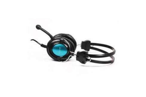 Гарнитура A4Tech HS-19-3 синий Микрофоны и наушники