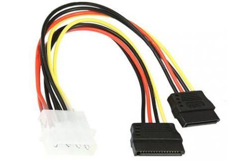 Кабель питания SATA Molex(4pin, БП) - 2xSATA (на 2 устройства) 15см,Gembird CC-SATA-PSY, пакет Кабели и переходники