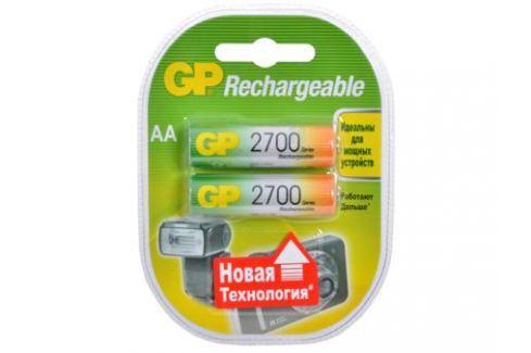Аккумуляторы GP 2шт, AA, 2700mAh, NiMH (270AAHC)-UC2PET-G Зарядные устройства и аккумуляторы