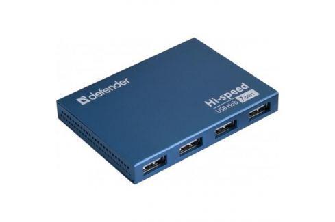 Концентратор USB2.0 HUB Defender SEPTIMA SLIM 7порт. активный хаб (с адап. 2A) Контроллеры