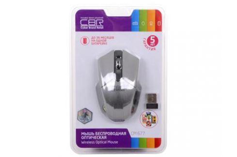 Мышь CBR CM-677 Grey, оптика, радио 2,4 Ггц, 1200 dpi, USB Мыши
