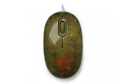 Мышь сувенирная+ коврик CBR Tank Battle, 1200 dpi, рисунок, USB Мыши