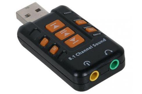 Адаптер ORIENT AU-01PL, USB to Audio, 2 x jack 3.5 mm для подключения гарнитуры к порту USB, кнопки: регулировка громкости, выкл.микрофона и наушников Кабели и переходники