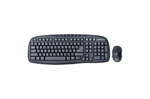 Беспроводной набор клавиатура+мышь SVEN Comfort 3400 Wireless, чёрный, 104+8 клавиш, классическая раскладка, 5+1 клавиш мыши, Blue LED Клавиатуры и комплекты