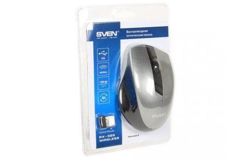 Беспроводная мышь SVEN RX-325 Wireless серая, 4 клавиши, эргономичная форма, блистер Мыши