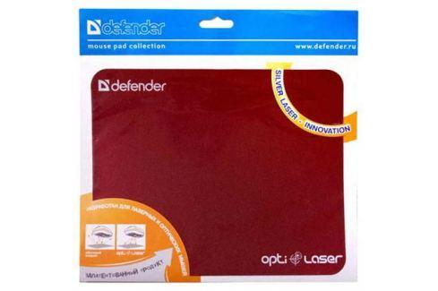 Коврик для мыши Defender пластиковый Silver opti-laser 220х180х0.4 Аксессуары