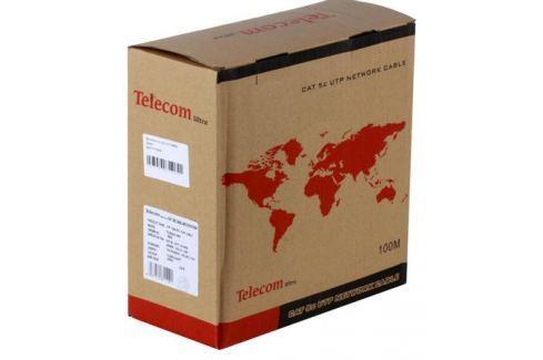 Сетевой кабель бухта 100м UTP 5e Telecom Ultra TUS44148E 4 пары, одножильный, 24AWG/0.51мм Кабели и переходники