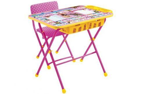 Комплект мебели Nika kids «Азбука: Маша и Медведь» стол 60х45 см с пеналом и стул розовый Наборы детской мебели