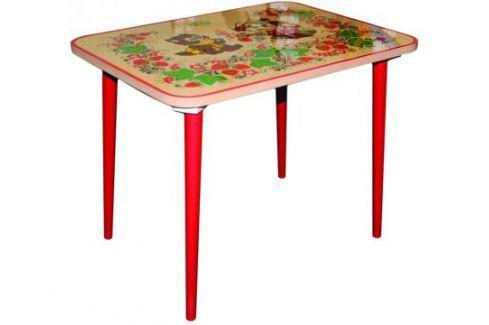 Стол Хохлома «Зверьки» с художественной росписью 60х45 см Детские столы и стулья
