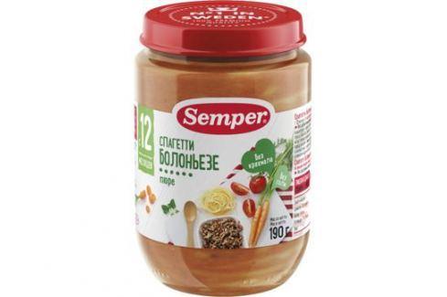 Пюре Semper Спагетти болоньезе с 12 мес. 190 г Пюре готовые обеды